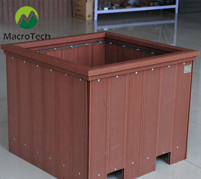 Waterproof wood-plastic deck outdoor flower box